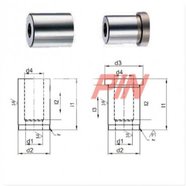 Piercing die bushings DIN 9845 type B, with collar